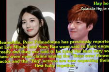 Lee Min Ho is rumored to split with Suzy due to his enlistment in May.