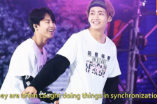 BTS' Jimin & V bromance: The two often caught doing things in sync.