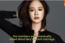 Song Ji Hyo expressed her feeling about Gary's secret marriage.