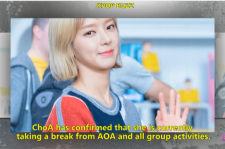 Choa is confirmed to take a break from AOA and all their activities.