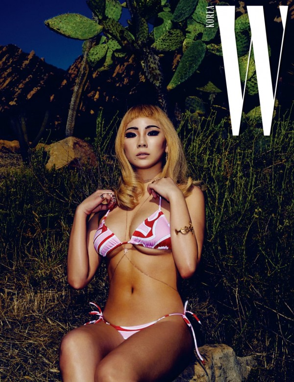 W Korea shared more pictures of CL wearing different swimsuits.key=>0 count4