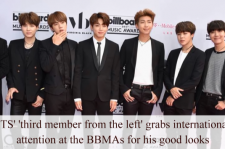BTS' Jin caught attention at BBMAs for his handome look.