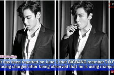 T.O.P was caught smoking marijuana with a female trainee at his house before enlistment.