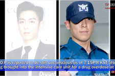 T.O.P is unconscious and is in ICU for drug overdose.