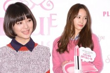 f(x)'s Sulli and Krystal New Faces of 'Etude House' Attends 'Sweet Recipe' Showcase