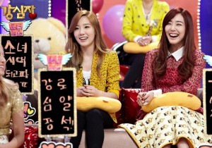 Girls' Generation's Taeyeon and Tiffany at Strong Heart