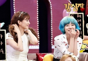 Girls' Generation's Sunny and Seohyun at Strong Heart