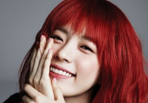 Han Hyo Joo Looks Gorgous as a Redhead for Elle Korea