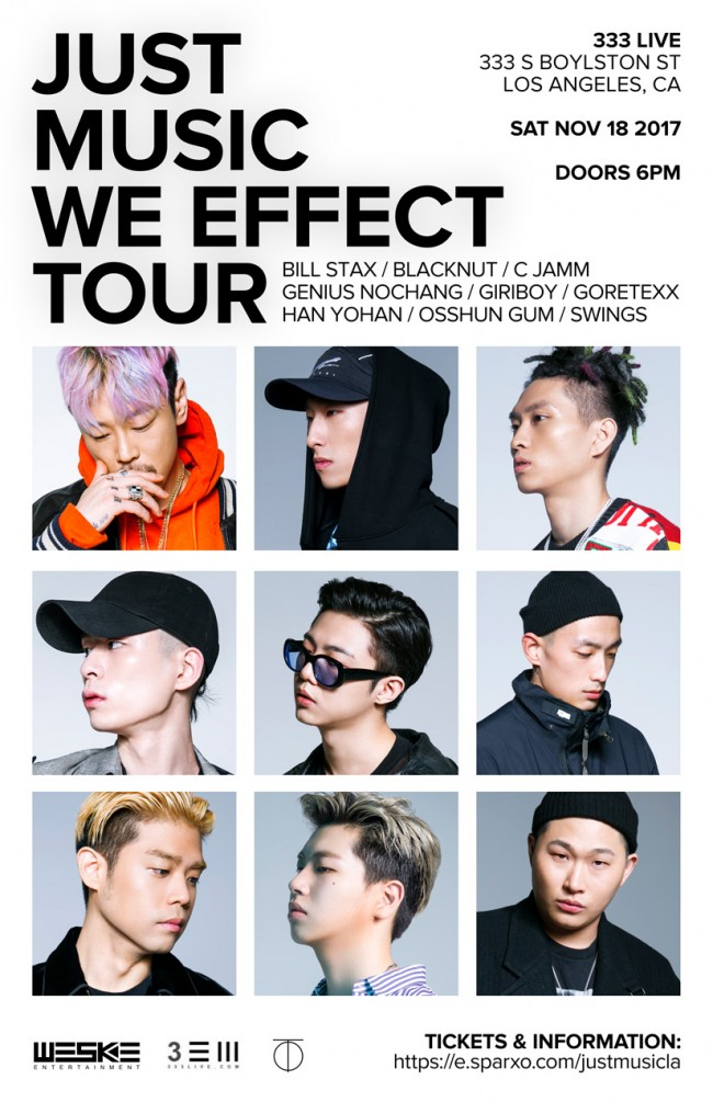 """Just Music """"We Effect"""" Tour"""