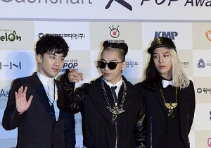 Gaon Chart Red Carpet: Big Bang (Taeyang, Seungri and G-Dragon)