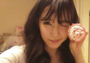 Girls' Generation Tiffany Wishes Happy Valentine's Day with Homemade Cupcake