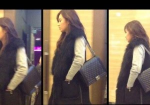 Girls' Generation Yuri Chic Fur Fashion at 'Legally Blonde' Musical