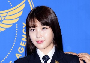 IU Wears Police Uniforms Appointed as School Violence Prevention Ambassador
