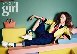 Girls' Generation Tiffany Poses for Vogue Girl Spring Collection