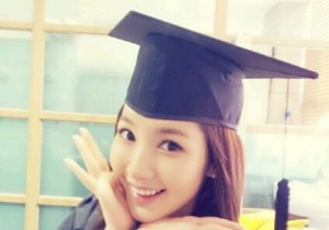 park min young graduation after 9 years