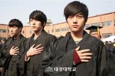 INFINITE Dongwoo, Hoya, Sungyeol, Sunggyu and L, Gradution of Daekyung University on February 15