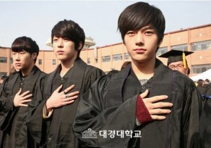 INFINITE Dongwoo, Hoya, Sungyeol, Sunggyu and L, Gradution of Daekyung University on February 15