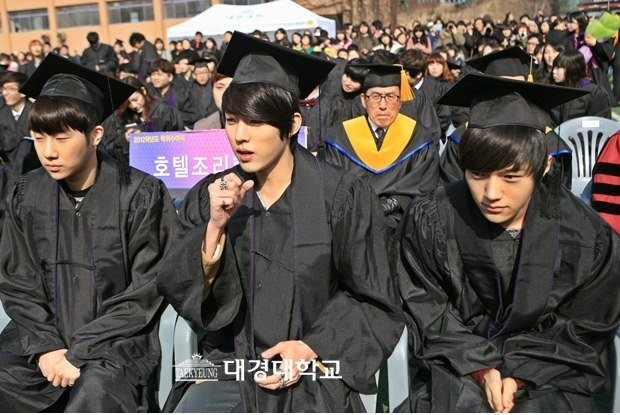 INFINITE Dongwoo, Hoya, Sungyeol, Sunggyu and L, Gradution of Daekyung University on February 15key=>2 count6