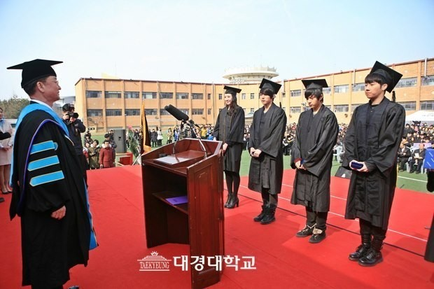 INFINITE Dongwoo, Hoya, Sungyeol, Sunggyu and L, Gradution of Daekyung University on February 15key=>5 count6