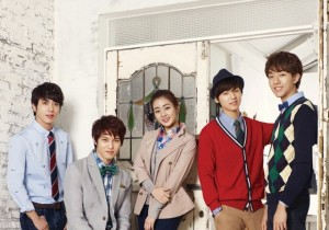 Kang Sora and CNBLUE for BANG BANG's Spring 2013 Collection
