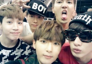 super junior m group self-camera