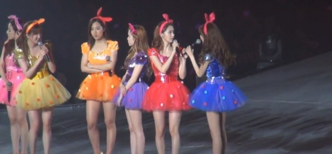 Girls Generation (SNSD) During the 2nd Japan Arena Tour Concert (Girls & Peace) in Kobekey=>2 count7