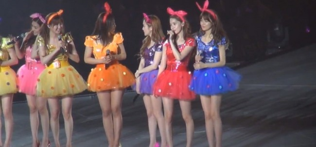 Girls Generation (SNSD) During the 2nd Japan Arena Tour Concert (Girls & Peace) in Kobekey=>4 count7