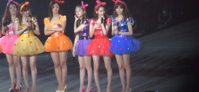Girls Generation (SNSD) During the 2nd Japan Arena Tour Concert (Girls & Peace) in Kobekey=>5 count7