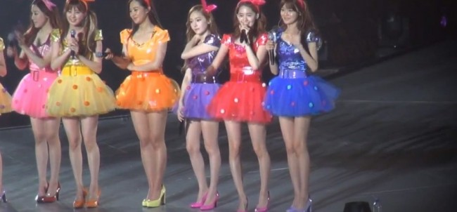 Girls Generation (SNSD) During the 2nd Japan Arena Tour Concert (Girls & Peace) in Kobekey=>6 count7