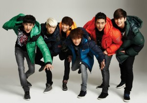 2PM (Jun. K, Nichkhun, Taecyeon, Wooyoung, Junho and Chansung) NEPA 2012 F/W Collection