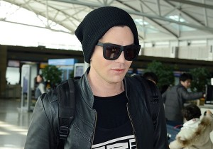 Airport Fashion: Adam Lambert Leaving for Japan Concert After Concluding Concert in Seoul