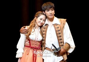 2PM JUN.K and Wonder Girls Yeun 'The Three Musketeers'