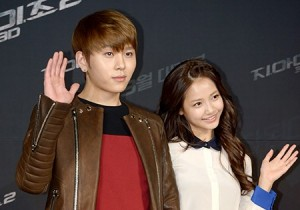 BEAST'S Yong Jun-Hyung and Actress Ha Yeon-Soo at 'G.I. JOE 2' VIP Red Carpet