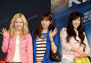 Girls' Generation's Hyoyeon, Tiffany and Seohyun at 'G.I. JOE 2' VIP Red Carpet