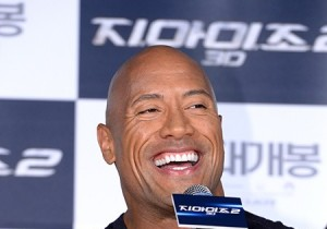 Actor Dwayne Johnson Attends 'G.I. JOE 2' Press Conference