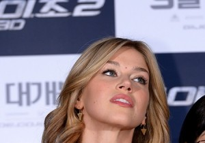 Actress Adrianne Palicki Attends 'G.I. JOE 2' Press Conference