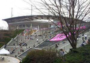 Fans enter Seoul World Cup Stadium
