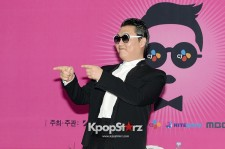 PSY Attends a Press Conference Before 'Happening' Concert to Introduce His New Single 'Gentleman' at Seoul World Cup Stadium on April 13