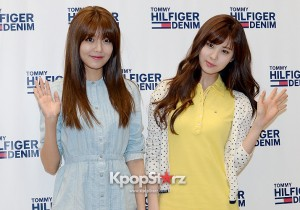 Girls' Generation(SNSD)'s Sooyoung and Seohyun Fan Sing Meeting for Tommy Hilfiger Denim