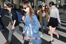 f(x)'s Victoria, Sulli, Krystal, Amber and Luna at Incheon Airport - April 14, 2013