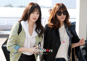 Davichi Kang Min Kyung and Lee Hae Ri at Incheon Airport Leaves for M Countdown Nihao Taiwan-April 24, 2013