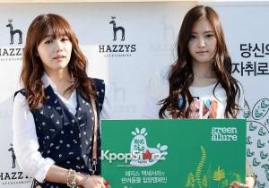 A Pink's Jung Eun Ji & Son Na Eun at Meet The Family - HAZZYS 'Big H Run' Event on April 24, 2013