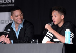 Will Smith and Son Jaden Smith Press Conference for 'After Earth'