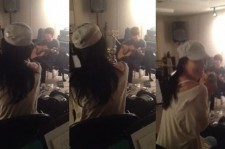 lee hyori practicing with lee sang soon