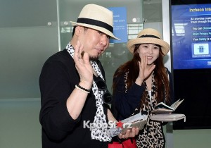 Kim Ji Woo and Raymon Kim Leaving For Mexico For Honeymoon Through Inchon Airport - May 17, 2013