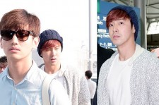TVXQ(U-Know Yunho, Max Changmin) at Incheon Airport Leaving for 2013 'TIME' TVXQ LIVE TOUR In Fukuoka, Japan on May 24, 2013