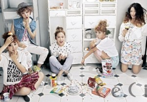 4Minute's HyunA, Jihyun, Gayoon, Jiyoon and Sohyun Reveals Her Pure and Girlish in CeCi Magazine