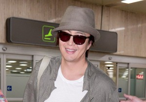 Actor Bae Young Joon At Kimpo Airport Returns to Korea From Japan on May 25, 2013