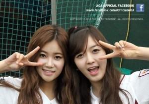 AOA (Choa, Jimin, Yuna, Youkyung, Hyejeong, Mina, Seolhyun, Chanmi) Wears Cute Baseball Uniform 'So Cute'