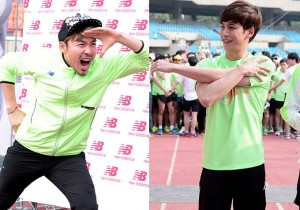 Noh Hong Chul, Park Ki Woong Attend Sports Brand
